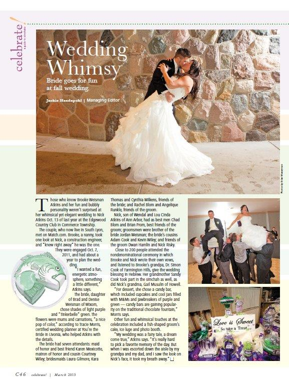 celebrate michigan, west bloomfield weddings, jewish weddings, detroit wedding planner