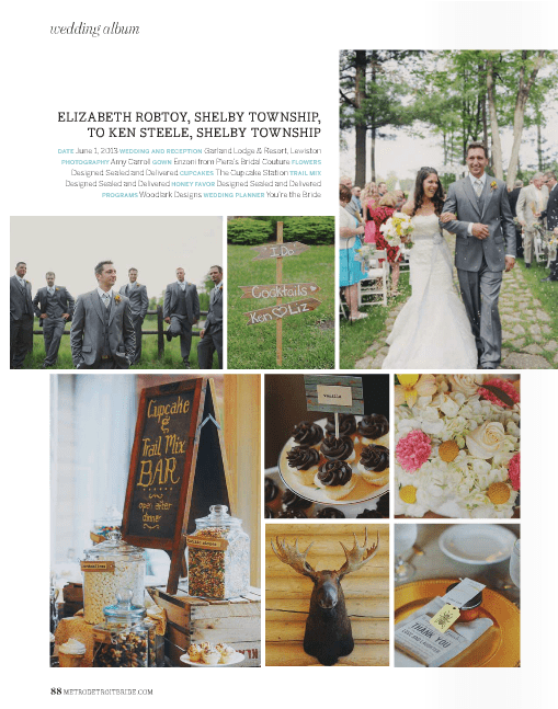 metro detroit bride, lewiston michigan, garland resort, detroit wedding planner