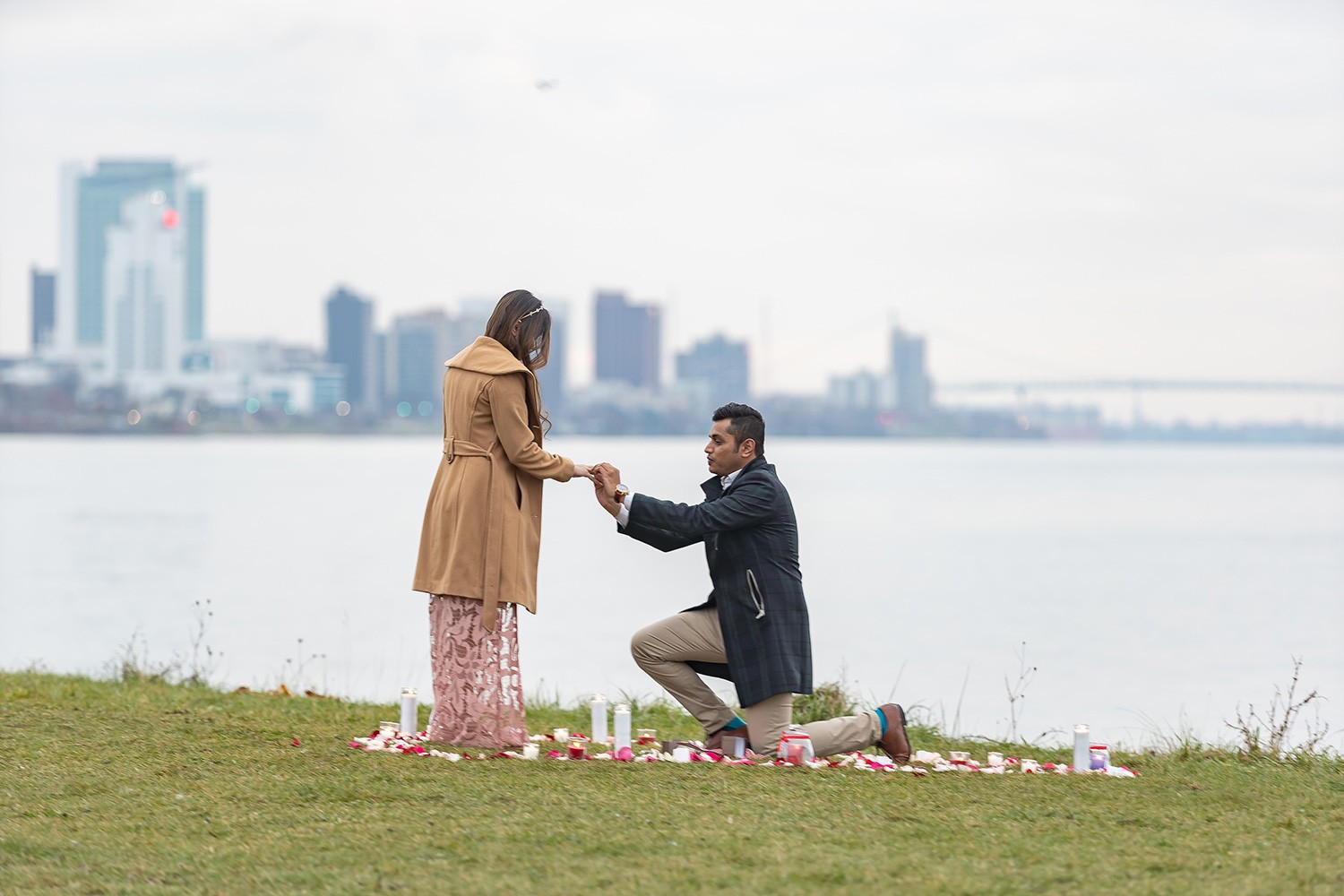 getting engaged couple Detroit
