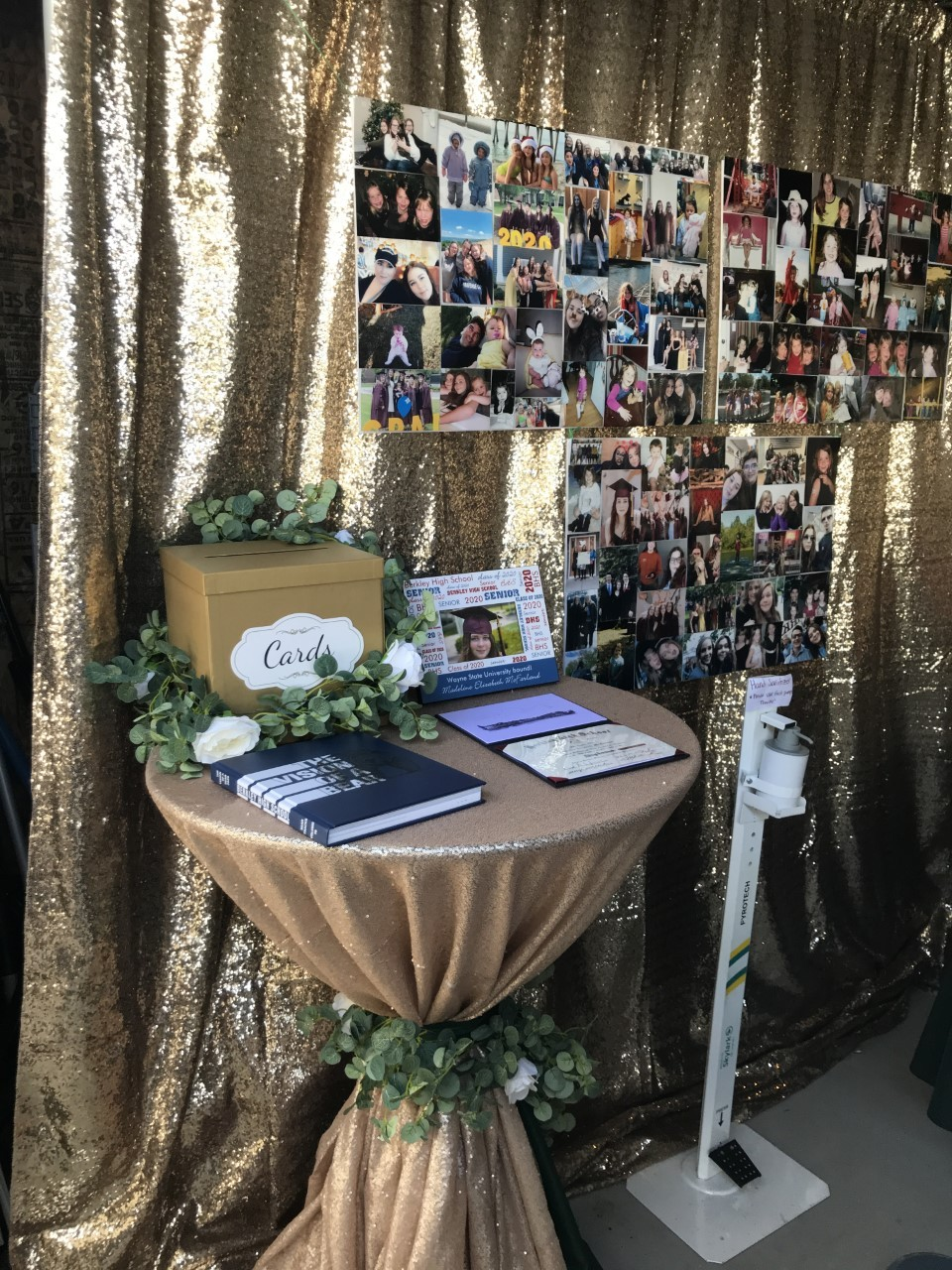 high school graduation party memory table