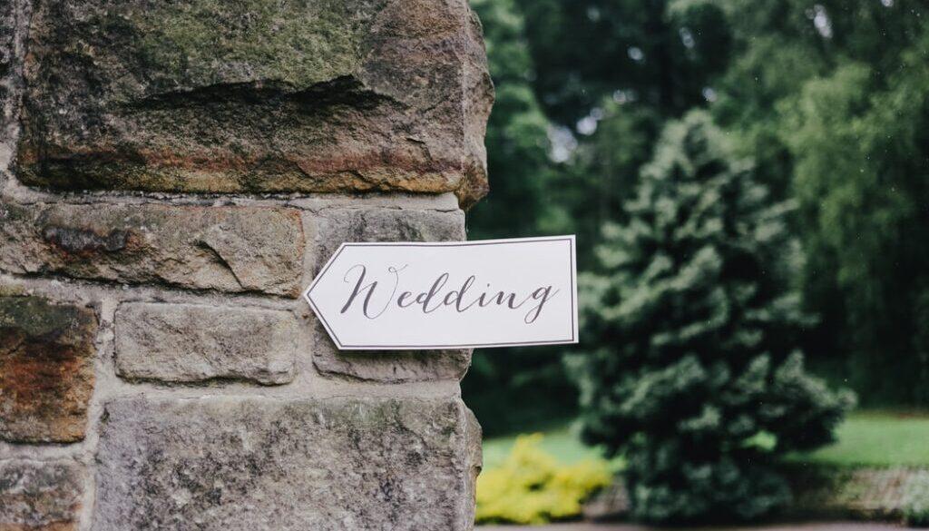 outdoor wall at wedding