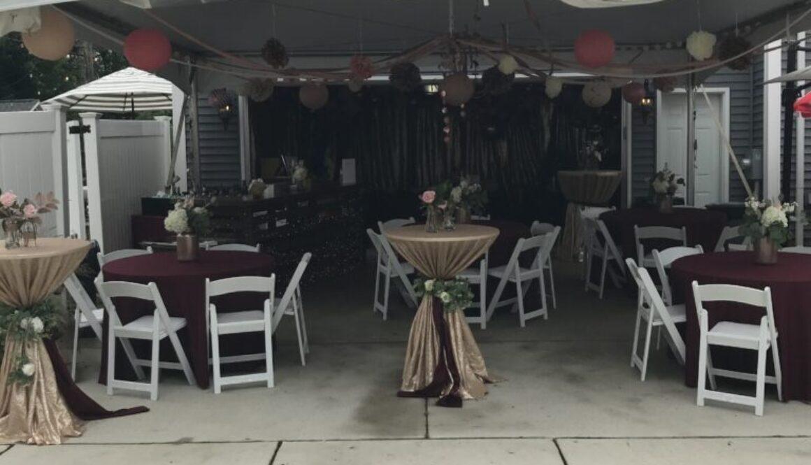 graduation tent party